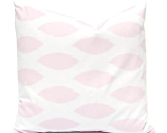 Baby Pink Pillow Covers, Pink Pillow Covers, Decorative Throw Pillow Covers Baby Girl Nursery Pink Nursery Pink White Chipper Pink Pillows