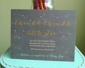 Twinkle, Twinkle Little Star Baby Shower Invitation, Star Baby Shower Invitation