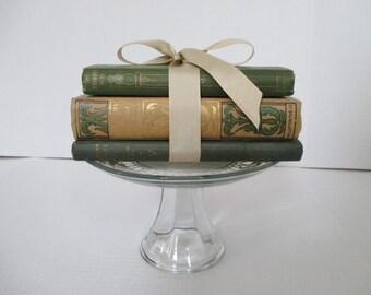 Vintage Green Book Stack - Three in Lot - Poetry Book/Hoosier Lyrics