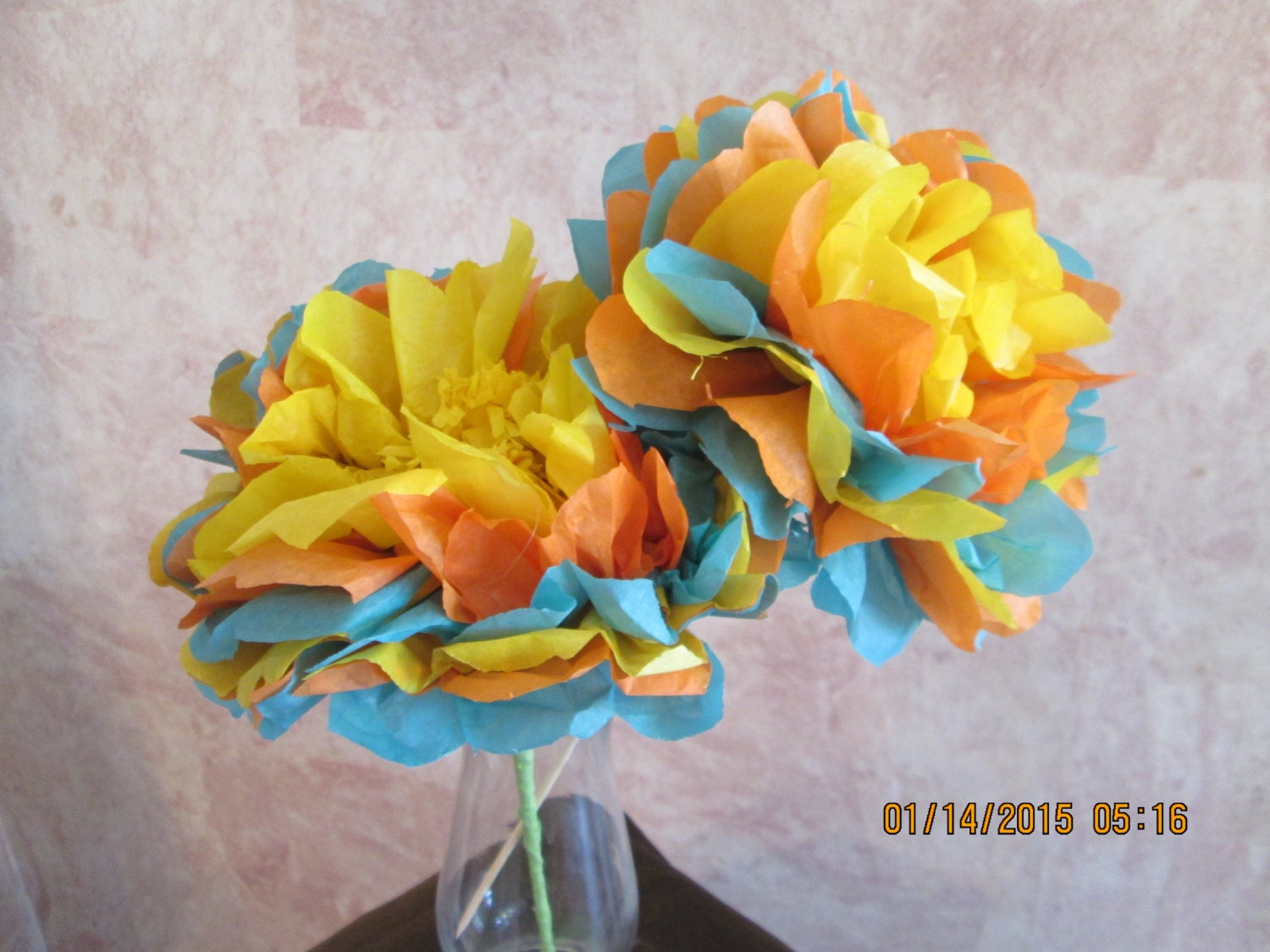 Tissue paper flowers Mexican Paper Flowers Fiesta Flowers