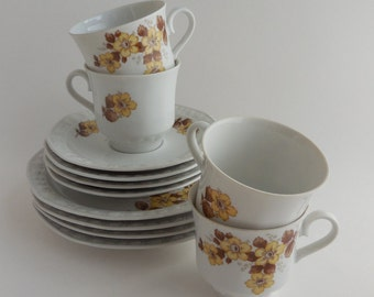 Winterling Kimberly Cups, Saucers, Small Plates, Tea Trio Set of 4