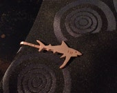 Made To Order - Copper Shark Tie Bar or Mini Money Clip - on hold for Meg Newhouse