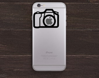 Camera Apple Vinyl iPhone Decal BAS-0121