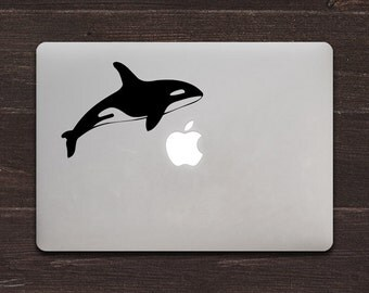 Orca Whale Vinyl MacBook Decal BAS-0242