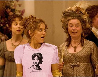 Jane Austen t-shirt Small size