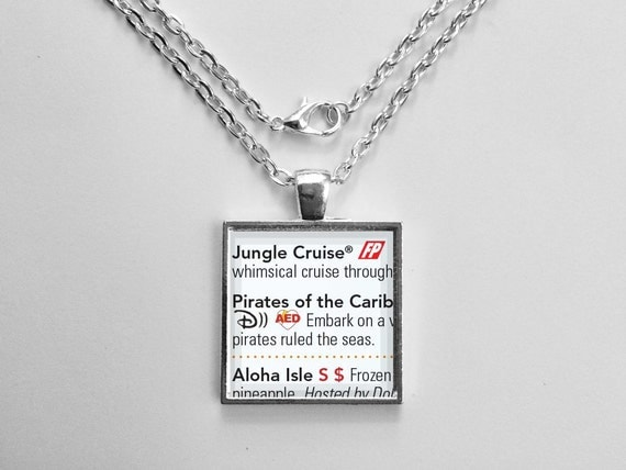 Pirates of the Caribbean Necklace from Walt Disney World Magic Kingdom Park Map