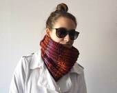 RISERVATO PER CAROLA Neckwarmer Unisex, Accessories knitted, Collar handmade with red wool, red Chunky knit cowl, Valentine Day