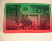 "Postcard ""Pipe Dream"" 1920s-1930s Litho-postcard with pink and green coloring."