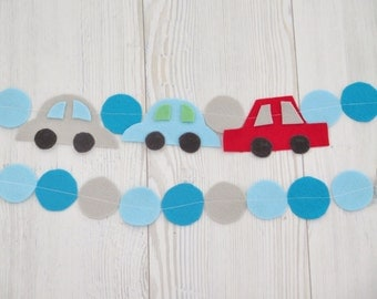 Happy Birthday banner fabric , party decorations , cars birthday party , boy nursery decoration , boy room decoration