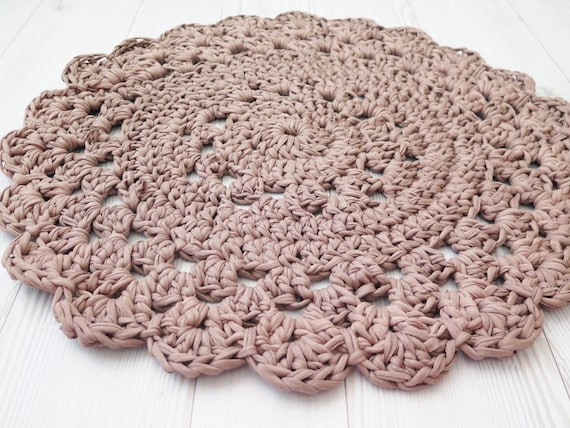 crochet rug doily rug small round rug bath mat kitchen mat