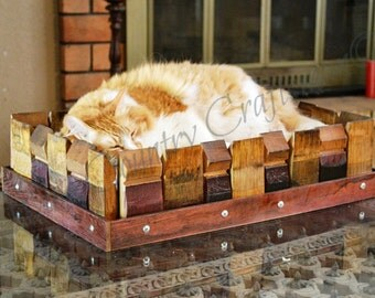 """ALVEO - """"Syncope"""" - Wine Barrel Pet Bed - 100% recycled"""