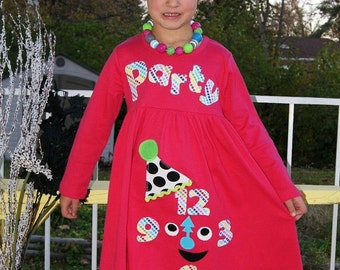 New Years Eve Dress - Party Time - Infant Toddler Youth Girl sizes