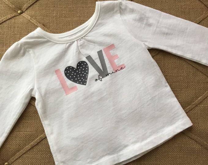 Love, of mine, Shirt, girls, tops, heart, children, clothing