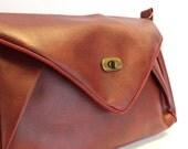 Envelope handbag, shoulder bag, dark red, red, burgundy, envelope bag, UK shop
