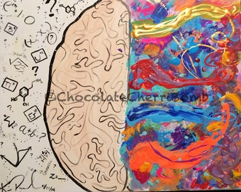 Thought and Excitement - 16x20 Inch Traumatic Brain Injury Awareness