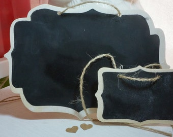 1 Large Hanging Blackboard Sign *Wedding*Lolly Buffet*Baby Shower*Beach Party* + Chalk + Post