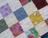 Multicolor Patchwork Baby or Toddler Quilt--Sweet Quilt--Baby Shower Gift