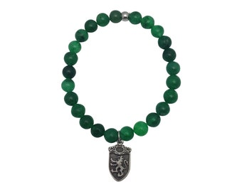 Mens Green Jade Bracelet - Mens Jewelry - Feng Shui Jewelry - Mens Style