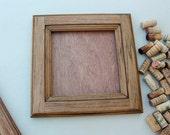 DIY Wine Cork Crafts - Bulletin Board or Large Trivet Kit - reclaimed wood frame - distressed wood