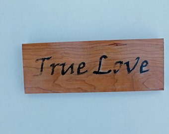 True Love - wood sign - wall decor - Distressed Reclaimed Wood Sign - home decor - valentines