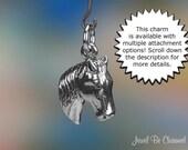 Horse's Head Charm Sterling Silver Horseback Riding Horse Lover .925