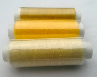 100% Polyester Sewing Thread - Cream and Yellows