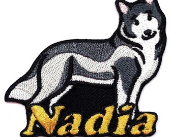 Iron on Patch Siberian Husky Name Personalized Free