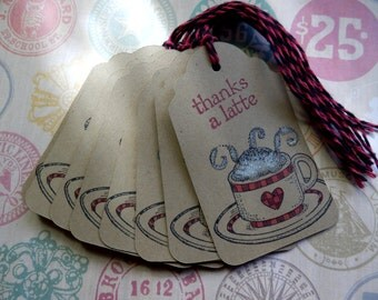 Latte - Coffee - Thanks a Latte - Gift/Hang Tags (6)