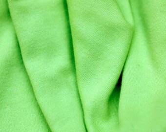 "Organic Cotton Interlock, 60"" wide, Lime Green"