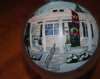 Hand Painted Home Ornament done from Picture... makes a great christmas present  - SOLD