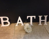 """Wall Decor, Shabby Chic Letters, 4"""" letters"""