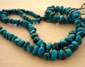 Super quality morenci mine chrysocolla pebble beads 3-9mm 1/2 strand