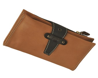 "Women's wallet in natural""camel"" leather,named Ariadni ,Made to order"