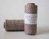 Brown Bakers Twine, Colored Cotton Twine, Scrapbook,bloggers favorite, garland string