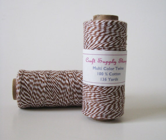 Brown Bakers Twine Colored Cotton Twine Scrapbookbloggers