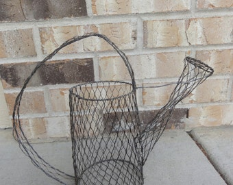 chicken wire watering can