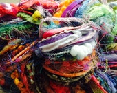 Art Yarn Fiber Bundle, 140 yards, specialty yarn, novelty yarn, multi-color, extreme, colossal, mega, rainbow, Sale 20% off