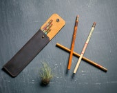Leather Pencil Case- Utensil, pen, crochet hook case