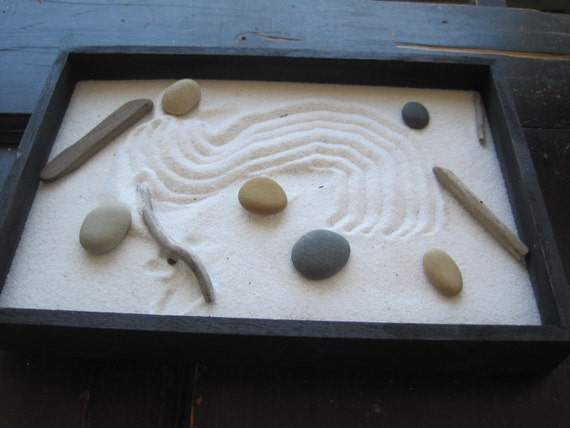 Zen Garden: you choose the  sand and stones. Just over 11x7 inches