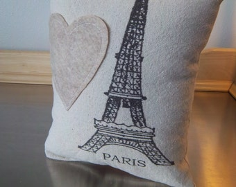 Paris throw pillow Eiffel Tower pillow birthday gift ideas cushion cotton canvas pillows cottage chic decor bff gifts French home decor