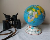 Vintage Ohio Art Globe Bank Airline Advertising