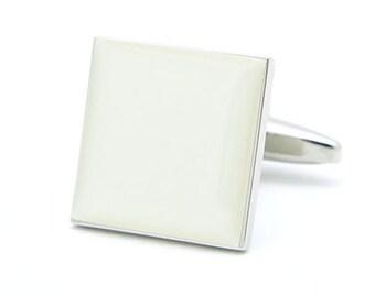 Plian Ivory Square Cufflinks
