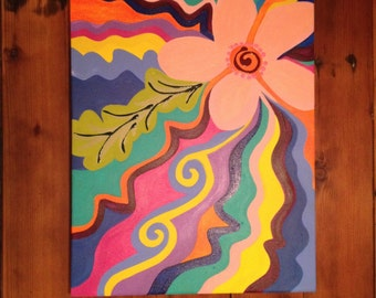 """Welcome to Maui Original Painting: Modern 16"""" x 20"""""""