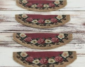 Dollhouse Stair Tread or Rug in Rose Pattern For Staircase or Stairway Step Priced Individually