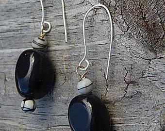 Black Agate Earrings!