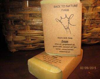 Handmade Sage Goats Milk Soap