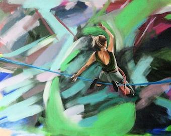 "Flight - Slackline Painting, high quality print 4x6"""