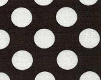 Fabric Finders Black with White Polka Dot Cotton Fabric