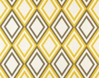 Premier Prints Annie Diamond Corn Yellow/Kelp Slub