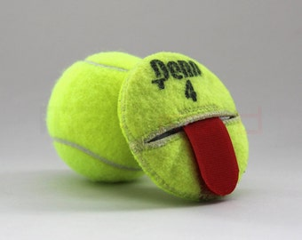 Handmade Recycled Tennis Ball Round/Compact Change Holder with Velcro strap